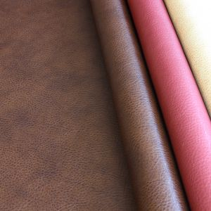 Ancona Faux Leather Upholstery Fabric