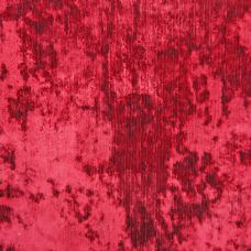 Crimson Flash Velvet Upholstery Fabric - Fantasia 2921