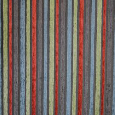 Vermillion, Teal, Lime Green and Charcoal Chenille Upholstery Fabric - Puccini 2132