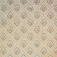 Biscuit & Teal Chenille Upholstery Fabric - Sardinia 2574