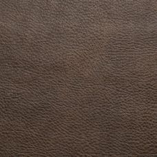 Dark Oak Faux Leather Upholstery Fabric - Ancona 1544