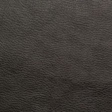 Jet Black Faux Leather Upholstery Fabric - Ancona 1545
