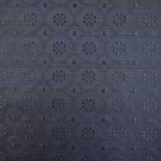 Blue and Black  Upholstery Fabric - Cavallo 1988