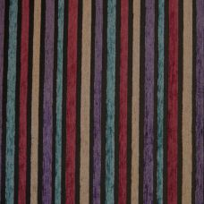 Purple, Teal, Sand and Vermillion Chenille Upholstery Fabric - Puccini 2130