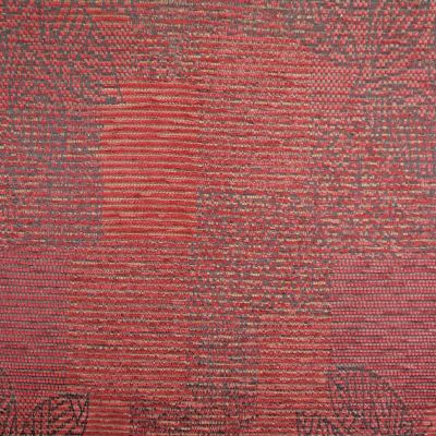 Firecracker Red Chenille Upholstery Fabric - Lucia 3579