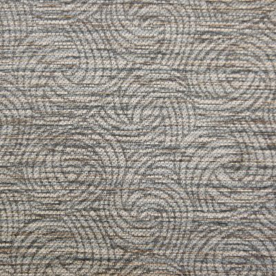 Rocket Ship Grey Chenille Upholstery Fabric - Monopoli 2947