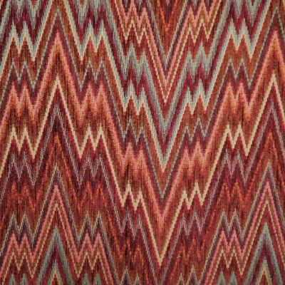 Vintage Claret Chenille Upholstery Fabric - Castello 3108