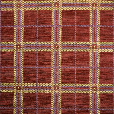 Vintage Claret Chenille Upholstery Fabric - Castello 3112