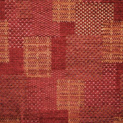Vintage Claret Chenille Upholstery Fabric - Castello 3116