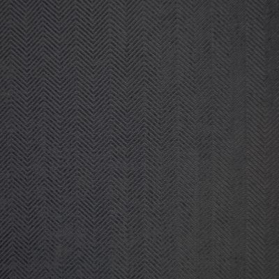 Pitch Black Velvet Upholstery Fabric - Zola 2798