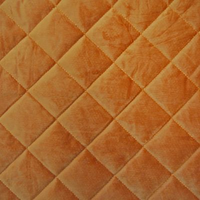 Seville Orange Velvet Upholstery Fabric - Quadro 3316