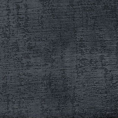 Panther Black Chenille Upholstery Fabric - Rustica 3651