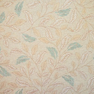 Biscuit & Teal Chenille Upholstery Fabric - Sardinia 2568