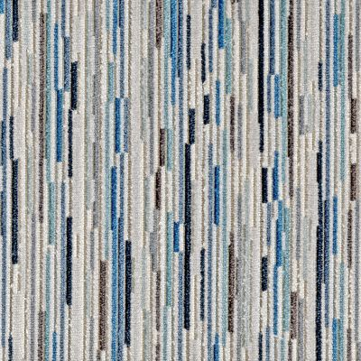 Hockney Blues Velvet Upholstery Fabric - Sinfonia 3600