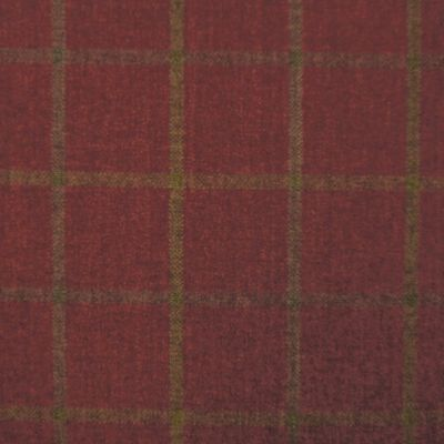 Brodie Red Chenille Upholstery Fabric - Tartufo 2448