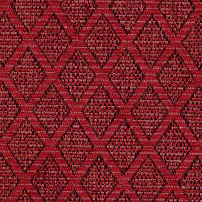 Crimson Flame Chenille Upholstery Fabric - Fortuna 3483