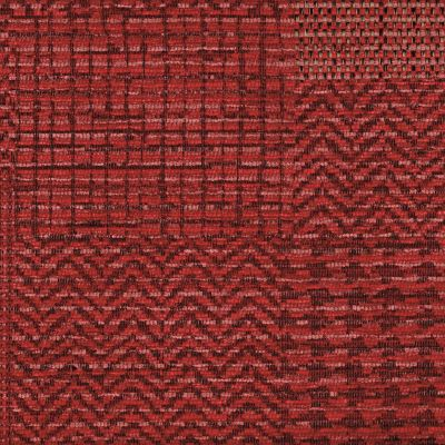 Crimson Flame Chenille Upholstery Fabric - Fortuna 3491