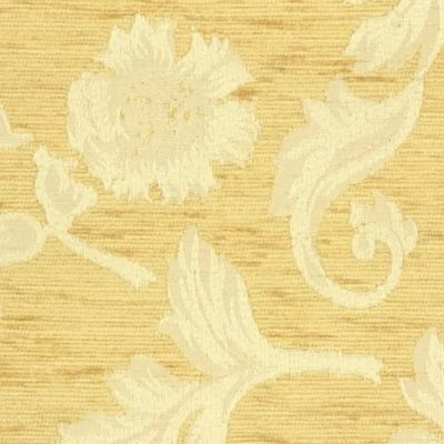Pale Gold Chenille Upholstery Fabric - Brindisi 1008