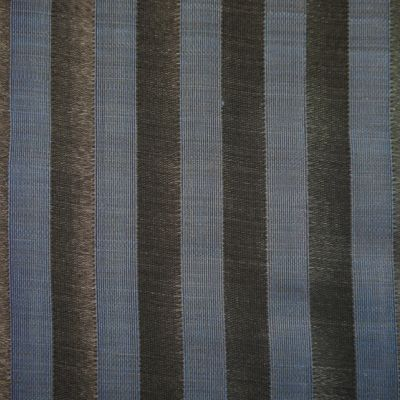 Blue and Black Horsehair Upholstery Fabric - Cavallo 1987