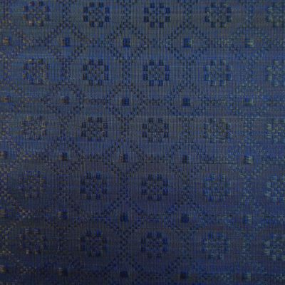 Blue and Black Horsehair Upholstery Fabric - Cavallo 1988