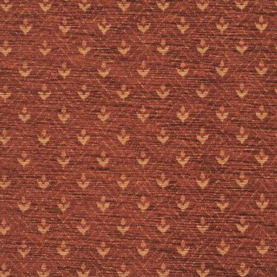 Terracotta Red Chenille Upholstery Fabric - Maranello 1597