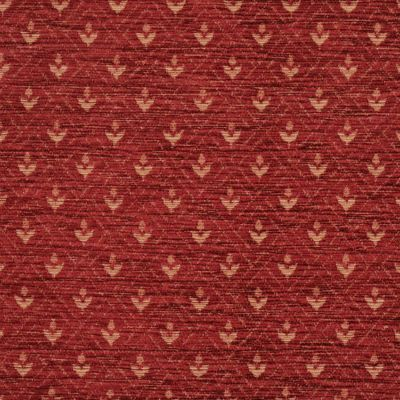 Ruby Red Chenille Upholstery Fabric - Maranello 1598