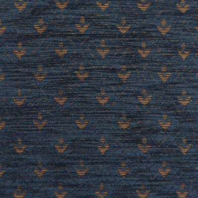 Midnight Blue Chenille Upholstery Fabric - Maranello 1602