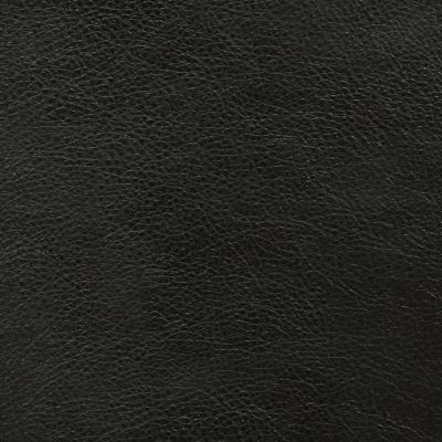 Black Faux Leather Upholstery Fabric - Monza 1288
