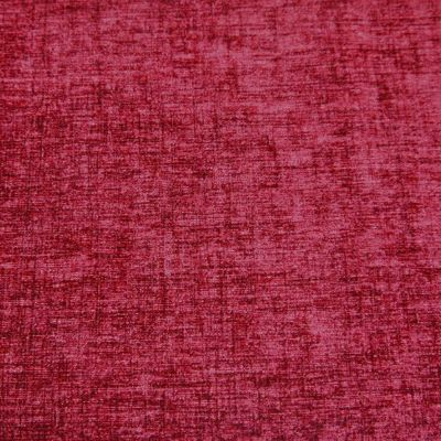 Cherry Red Chenille Upholstery Fabric - Parma 1839