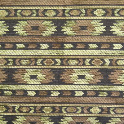 Old Gold, Coffee  Chenille Upholstery Fabric - Rigoletto 2151