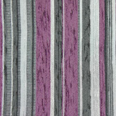 Purple, Charcoal & White Chenille Upholstery Fabric - Vicenza 1860
