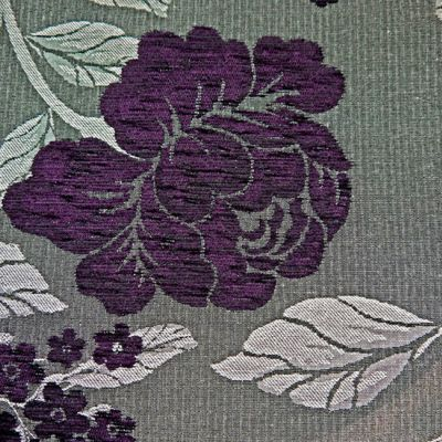 Aubergine, Charcoal  Chenille Upholstery Fabric - Vicenza 1861