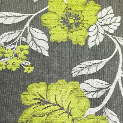 Pistachio, Charcoal  Chenille Upholstery Fabric - Vicenza 1863