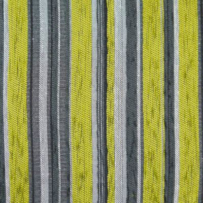 Pistachio, Charcoal  Chenille Upholstery Fabric - Vicenza 1864