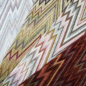 Castello Flamestitch Chenille Upholstery Fabric