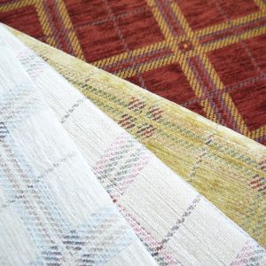 Castello Check Chenille Upholstery Fabric