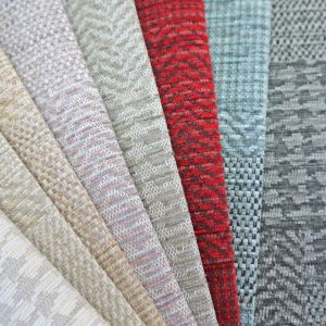 Fortuna Patchwork Chenille Upholstery Fabric