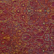 Medici Red Chenille Upholstery Fabric - Palazzo 2743