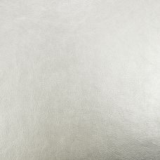 Metallic Silver Faux Leather Upholstery Fabric - Monza 3218