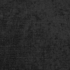 Jet Black Chenille Upholstery Fabric - Parma 1852
