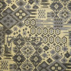 Gunmetal, Steel Blue  Chenille Upholstery Fabric - Rigoletto 2144