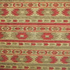 Olive, Bordeaux and Straw Chenille Upholstery Fabric - Rigoletto 2146