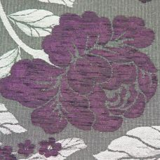 Purple, Charcoal  Chenille Upholstery Fabric - Vicenza 1859