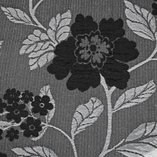 Black, Charcoal  Chenille Upholstery Fabric - Vicenza 1865